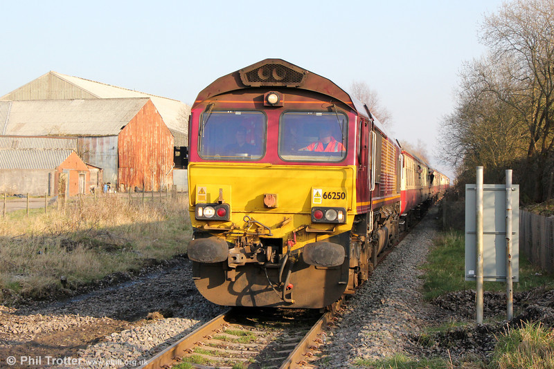 66250 at Hirwaun with UK Railtours 1Z63, 1315 Cwmbargoed to Tower Colliery, 'The Tower Gateway' on 9th March 2014.