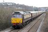 47832 'Solway Princess' passes Melincryddan at the rear of 1Z59, 1500 Fishguard Harbour to Cardiff Central, 'Northern Belle' on 1st March 2014.