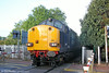 DRS 37605 at Ammanford with Infrastructure Monitoring train 1Q05, 0549 Landore TMD to Newport on 27th June 2014.