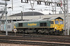 66541 at Stratford with 4L31, 0903 Bristol to Felixstowe on 31st January 2014.