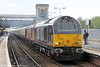 67006 'Royal Sovereign', 67024 and the VSOE Pullman set pass Exeter St. Davids with 1Z79, 1130 Plymouth to Taunton charter on 26th April 2014.