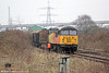 56094 in Briton Ferry Yard with 6Z51, 1526 Baglan Bay to Chirk (Kronospan) on 30th January 2014.