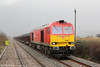 Making its second run of the day to Trostre, 60001 passes Llangennech with 6B41, 1310 from Margam on 18th January 2014.