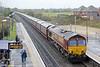 66110 passes Radley with 6M48, 0928 Southampton Eastern Docks to Halewood (Jaguar) on 4th October 2014.