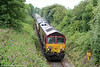 66133 in the outskirts of Llandrindod Wells with Pathfinder's 1Z25, 0625 Banbury to Llandrindod Wells, 'The Heart of Wales Rambler' on 12th July 2014.