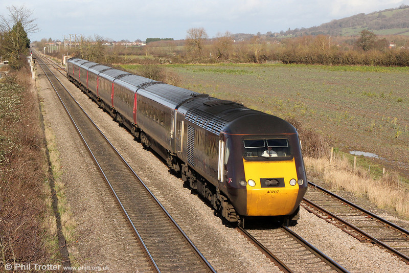 XC 43207 at Ashchurch heading 1V52, 0601 Glasgow Central to Taunton on 27th January 2014.