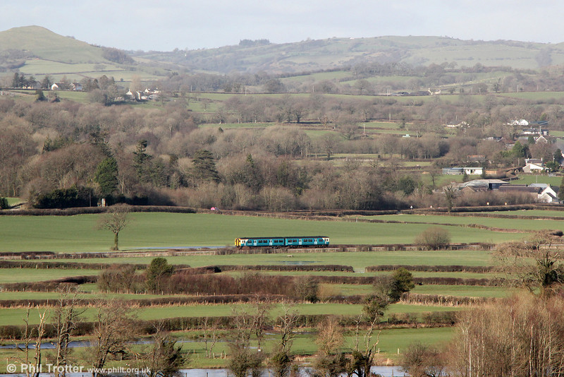 A location which is always worth revisiting on a clear day: An ATW class 150 at Manordeilo forming 2V04, 1204 Shrewsbury to Swansea on 16th February 2014.