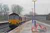 66186 passes Banbury with 6O42, 1131 Halewood to Southampton Eastern Docks on 29th January 2014.