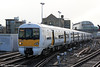 South Easetern's 376013 arrives at London Cannon Street, forming 2B49, 1156 from Plumstead on 8th February 2014.