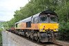 Colas 66847 stands at Rogerstone at the rear of engineers' train 6C26 (1932 from Westbury the previous evening) on 1st June 2014.