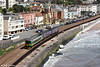 Former London Midland 153333 leads 2T14, 1024 Exmouth to Paignton through Dawlish on 10th May 2014.