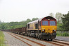66131 passes Llangennech with 6B03, 0910 Trostre Works to Margam on 31st May 2014.