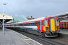 Southern's 'Gatwick Express' 442416 passes Clapham Junction forming 1U83, 1420 Gatwick Airport to London Victoria on 16th January 2014.