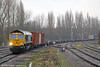 66570 approaches Banbury with 4O09, 1018 Trafford Park to Southampton Maritime on 29th January 2014.