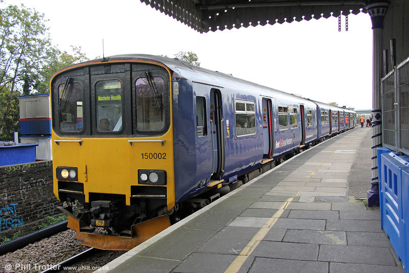 Second prototype Class 150, 150002 ran services between West Drayton and Colnbrook during FGW's Heritage Weekend, 18th & 19th October. Here, 150002 waits to leave West Drayton forming 2Z27, 1500 to Colnbrook on 18th October 2014.