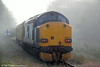 DRS 37602 at the rear of  Infrastructure Monitoring train 1Q05, 0549 Landore TMD to Newport at Pantyffynnon on 27th June 2014.