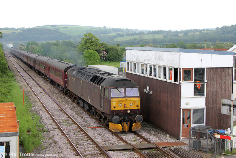47245 at Whitland with The Railway Touring Company's 1Z51, 1332 Carmarthen to Fishguard Harbour, 'The Southern Irishman' on 31st May 2014. GWR Castle Class 4-6-0 no. 5029 'Nunney Castle' was at the rear.