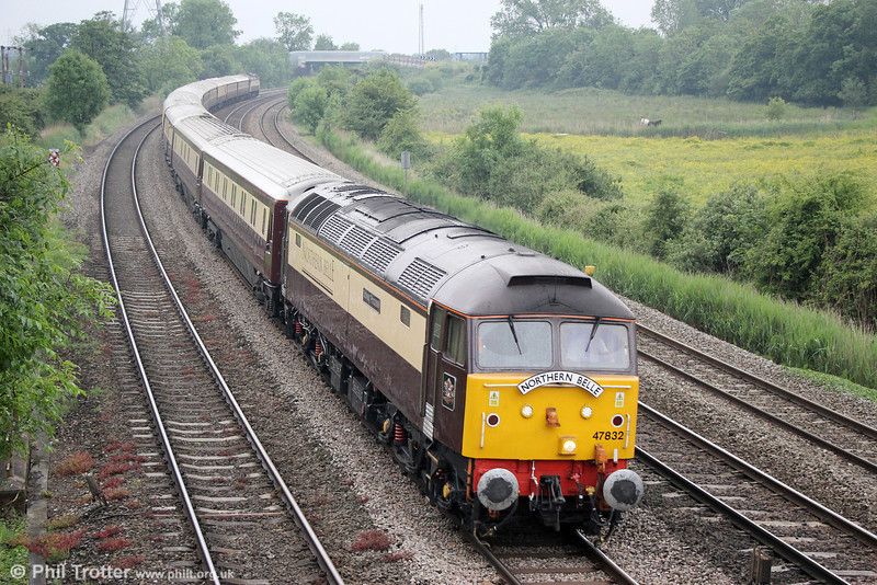 47832 'Solway Princess' passes Duffryn with 1Z36, 0852 Cardiff Central to Chester, 'The Northern Belle' on 7th June 2014. 47790 'Galloway Princess'  was at the rear.