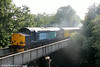 DRS 37602 at Pontamman with Infrastructure Monitoring train 1Q05, 0549 Landore TMD to Newport on 27th June 2014.