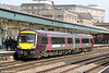 XC 170116 calls at Newport forming 1V06, 0910 Nottingham to Cardiff Central on 8th March 2014.