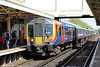 450023 calls at Woking forming 1A35, 1253 London Waterloo to Alton on 3rd May 2014.