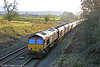 66037 near Haresfield with 6M39, 1358 Avonmouth to Ratcliffe Power Station on 17th January 2014.