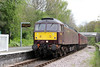 WCRC 47746 passes Penybont with Compass Tours 1Z47, 0527 Darlington to Cardiff Central, 'The Heart of Wales Scenic Rambler' on 7th May 2014.