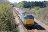 DRS 47813 'Solent' at St. Athan, bringing up the rear of 1Z68, 1028 London Paddington to Swansea 'Footex' on 13th April 2014.