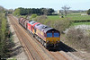 66102 with 60017 DIT pass St. Athan with 6E47, 1236 Margam to Middlesborough on 13th April 2014.