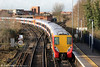458029 calls at Staines forming 2C38, 1242 Reading to London Waterloo on 16th January 2014.