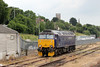 57605 'Totnes Castle' in the yard at Exeter, having arrived with 2E75, 1125 Par to Exeter summer Saturday relief on 14th June 2014.