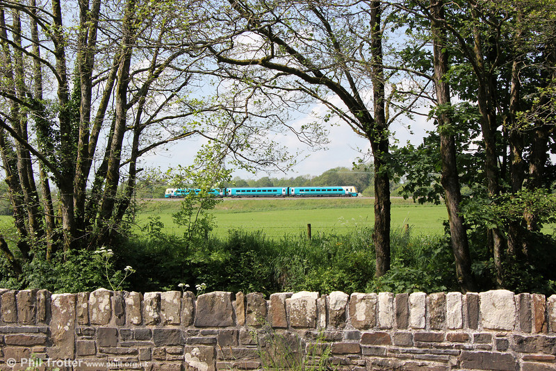 An ATW Class 175/1 passes Gelli forming 1W71, 1510 Milford Haven to Manchester Piccadilly on 31st May 2014.