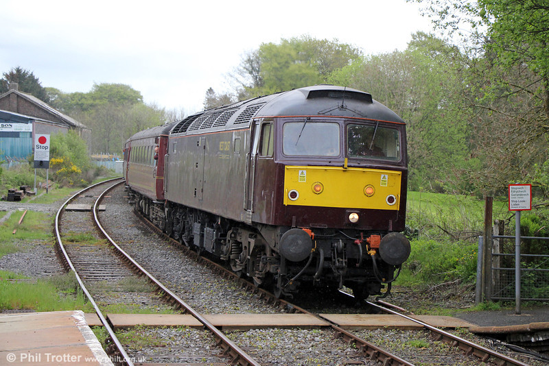 WCRC 47746 at Llanwrtyd Wells with Compass Tours 1Z47, 0527 Darlington to Cardiff Central, 'The Heart of Wales Scenic Rambler' on 7th May 2014.