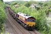 66056 passes Llangewydd with 6H27, 1353 Margam to Llanwern on 26th May 2014.