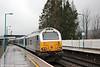 67029 'Royal Diamond' propels 1V91, 0533 Holyhead to Cardiff Central through Abergavenny on 13th February 2015.