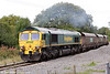 66512 at Hirwaun with 6C45,1054 Tower Colliery to Aberthaw Power Station on 10th September 2016.
