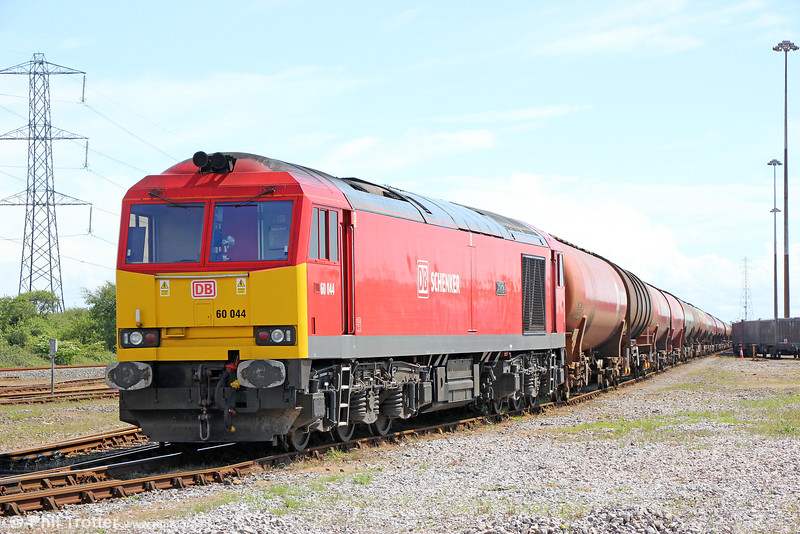 60044, nowadays named 'Dowlow', awaits its next job at Margam Knuckle Yard on 22nd May 2016.