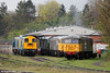 Another view of UKRL's Leicester depot on 27th April 2016. Left to right: 20142, 20205, 37905, 56104, 56098.