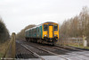 150235 passes Duffryn Crossing with 2E05, 0943 Carmarthen to Swansea on 31st December 2017.
