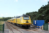 43014 'The Railway Observer' passes Llangennech with NMT 1Q16, 0315 Landore to  Derby RTC via West Wales branches on 30th August 2017.