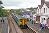 150264 (showing the wrong destination) calls at Llanfairpwllgwyngyllgogerychwyrndrobwllllantysiliogogogoch with 1G40, 1127 Holyhead to Birmingham International on 13th August 2018.