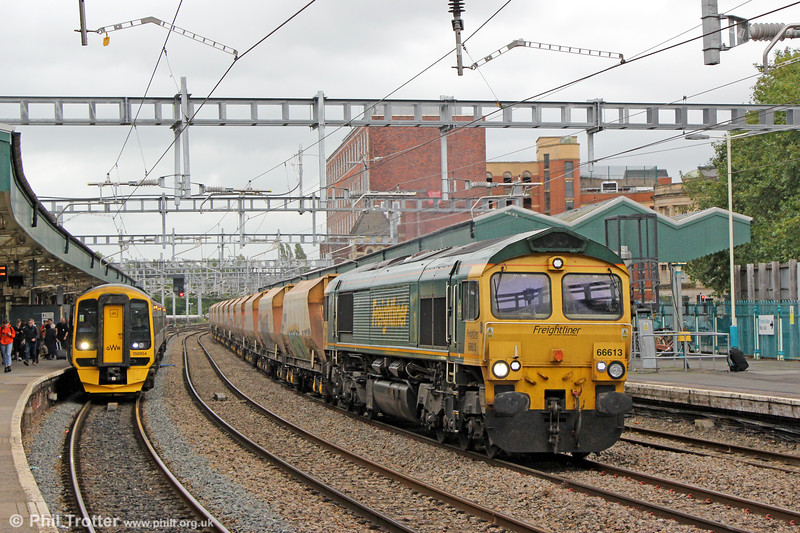 66613 at Newport with 6B92, 1218 Stoke Gifford to Port Talbot Grange on 23rd September 2019.