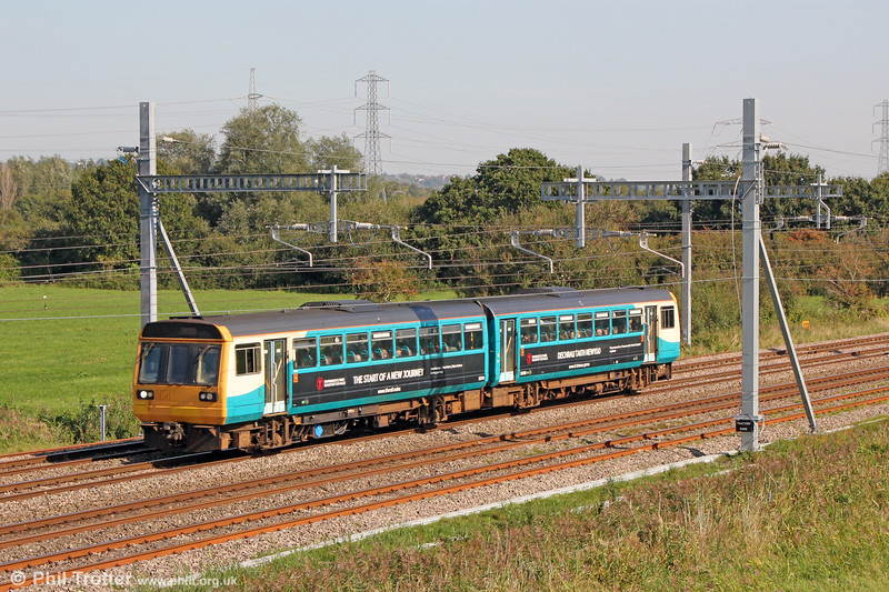 Leyland National: 142069 passes Coedkernew forming 2F24, 1037 Ebbw Vale to Cardiff Central on 20th September 2019.