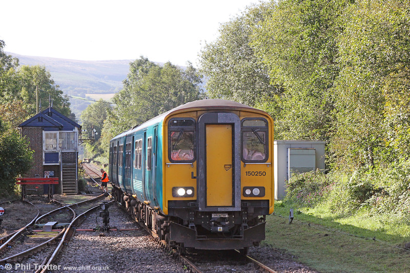 150250 forming 2M08, 0934 Swansea to Shrewsbury at Pantyffynnon on 18th September 2019.