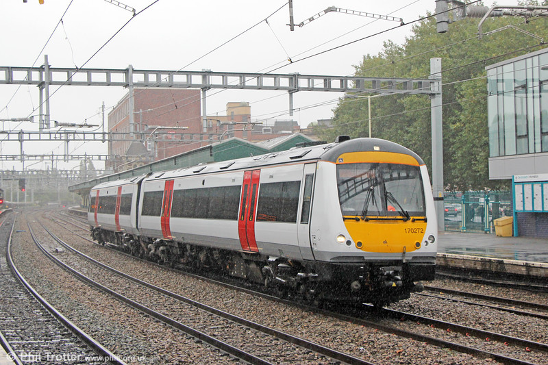 Transport for Wales is pressing on with acquiring replacements for its ageing fleet. Here, ex-Greater Anglia 170272 passes Newport on its delivery run: 5Z70, 1018 Norwich to Cardiff Canton on 23rd September 2019.
