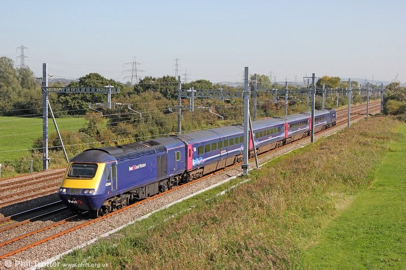 43088 leads 2U10, 0916 Taunton to Cardiff Central through Coedkernew on 20th September 2019.