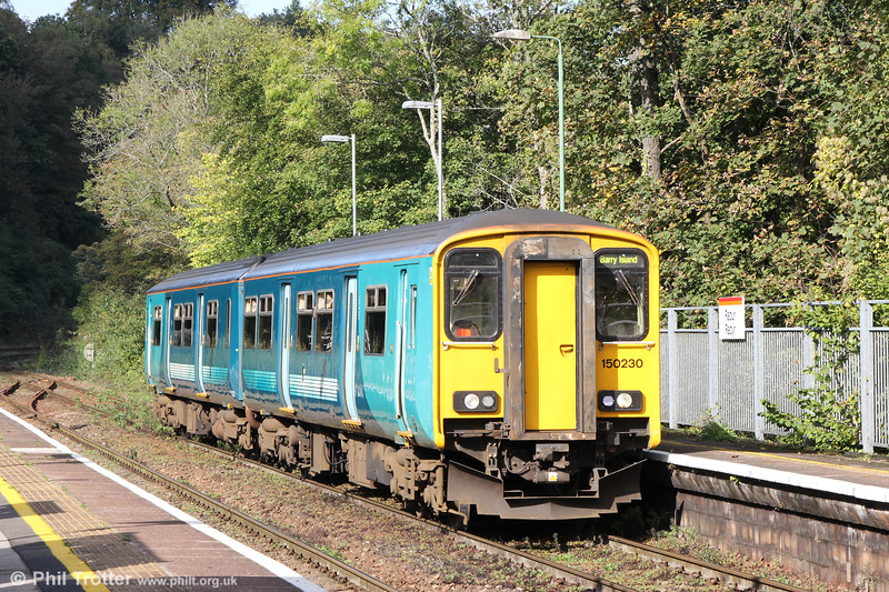 150230 at Radyr forming 2Y20, 1053 Aberdare to Barry Island on 6th October 2019. The TFW class 150s are subject to a programme of PRM (Persons with Reduced Mobility) interior modification in time for the new legislation which becomes effective from 1st January 2020. This includes new fully accessible toilets and at the same time power and USB points for passengers. It is understood that the new TfW livery will follow.
