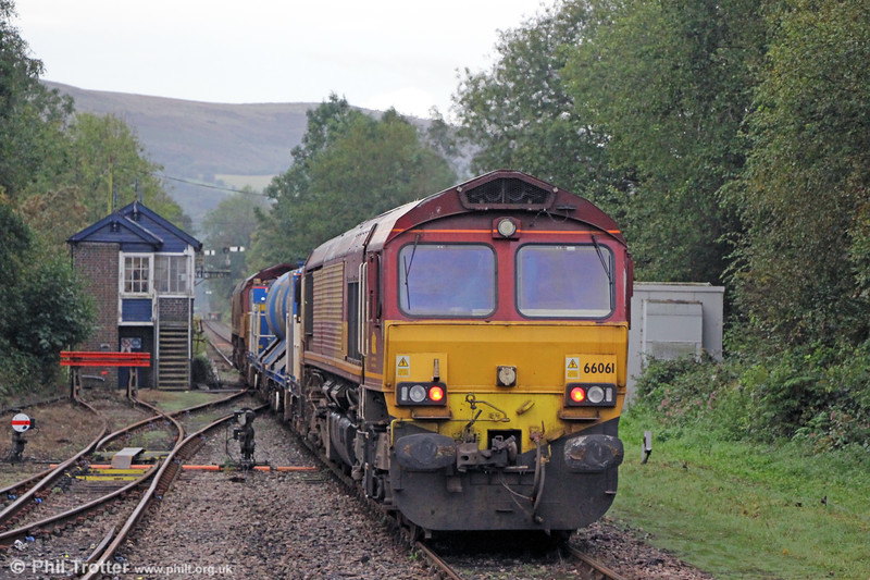 66061 at Pantyffynnon bringing up the rear of RHTT 3S61, 1755 Margam to Margam via the West Wales branch lines and Llanwrtyd Wells on 30th September 2019.