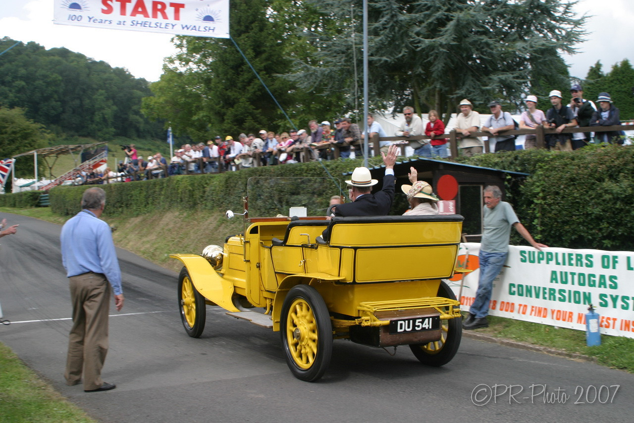 Shelsley Walsh Centenary event featuring original BRM and Autounion