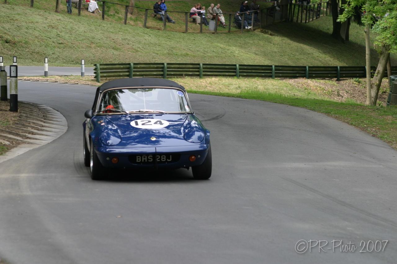 Paul Matty Lotus Challenge at the Club 'La Vie en Bleu' Prescott Hillclimb 26 May 2007